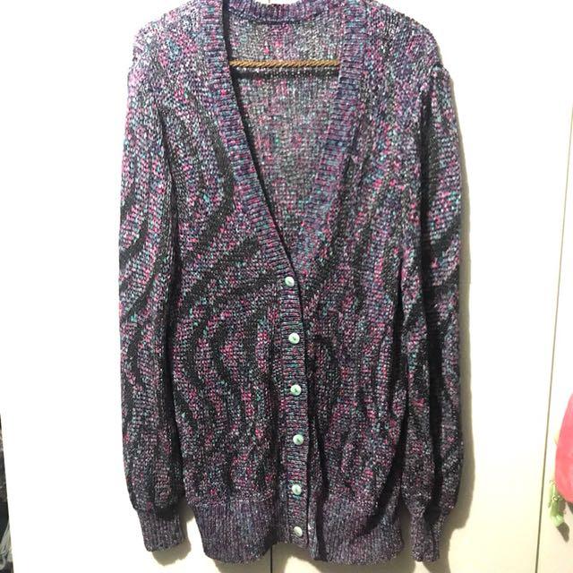日本古著極品 針織罩衫外套