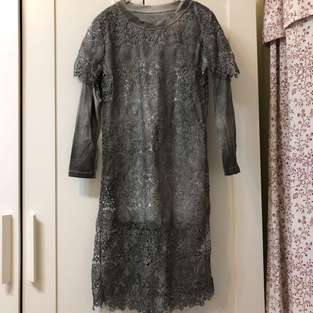 正韓 兩件式蕾絲洋裝