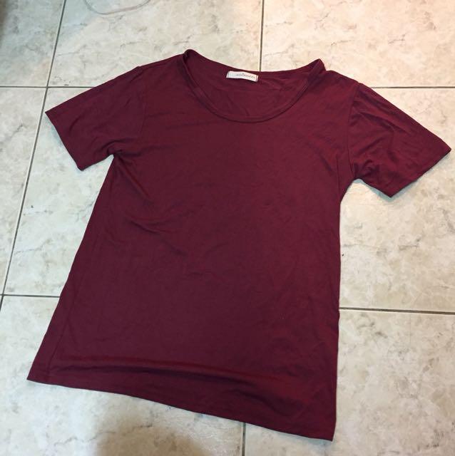 夏季🌞棗紅🌹酒紅 素色上衣