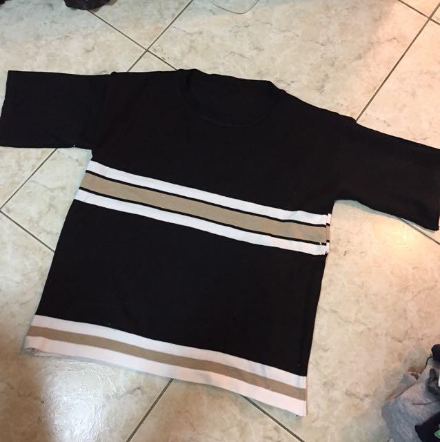 夏季🌞五分袖 針織拼接 上衣