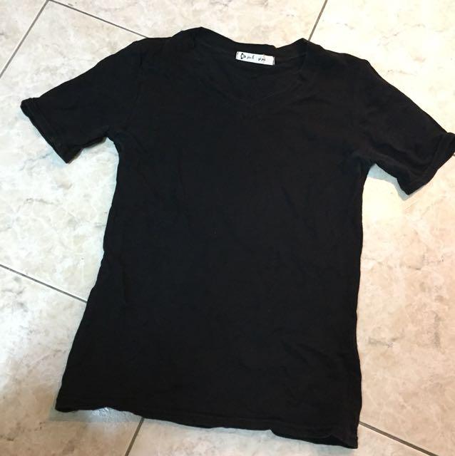 夏季🌞黑色 竹節棉 素色上衣