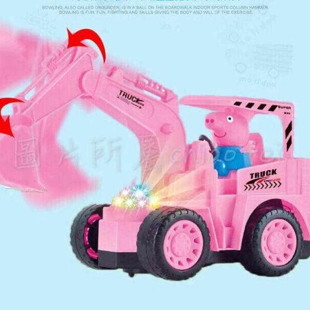 #幼童玩具百貨商品   #葆李廠  QA-035280248860 #L李的玩具  佩佩豬音樂發光電動款挖土機