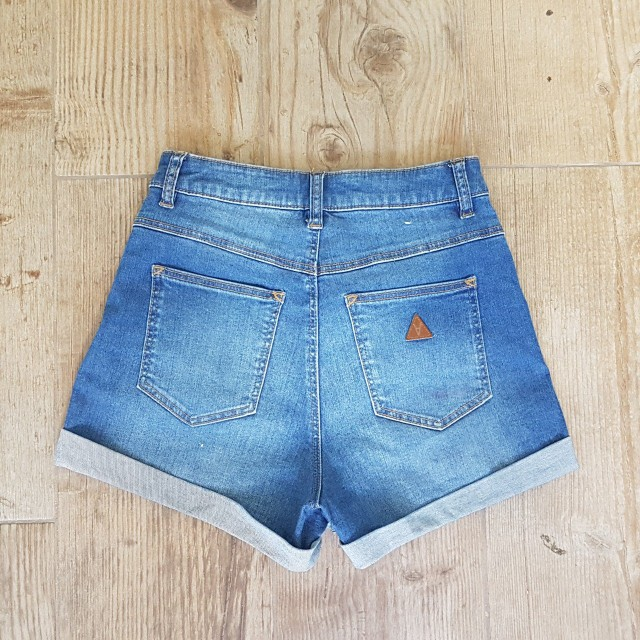 A Brand Denim High relaxed fit Shorts