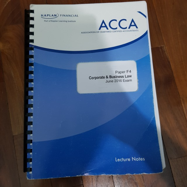 ACCA F4 SGP Singapore study text for June 2016 by Kaplan