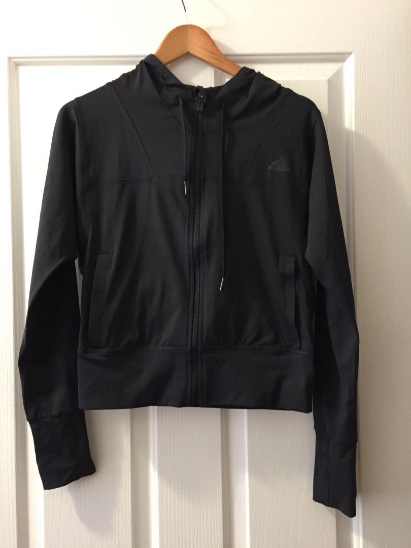 Adidas Climalite Hooded Jacket- XS