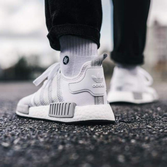 0479fdc19 ... Adidas NMD R1 White Grey Blizzard