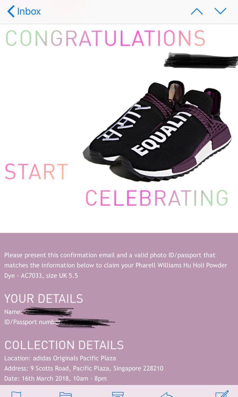 Adidas Pharrell Williams Hu Moda Holi Polvere Colorante, La Moda Hu Femminile, Le Scarpe 470b26
