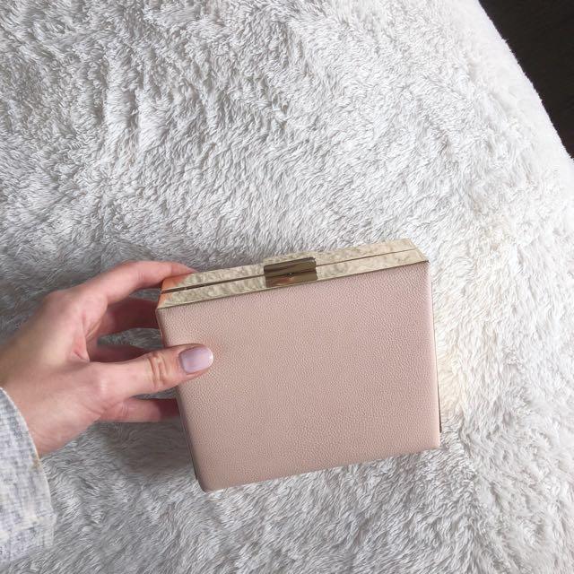 Aldo blush clutch
