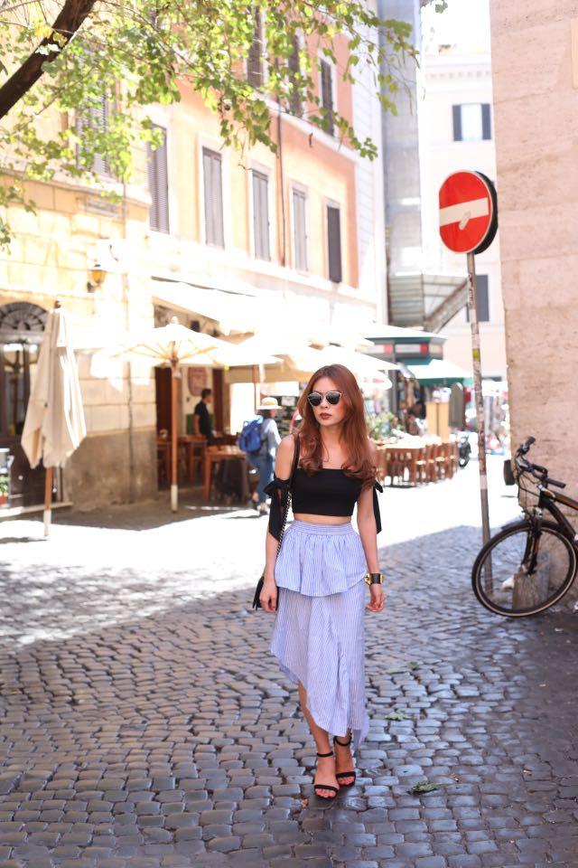 ASOS Asymmetrical Midi Skirt