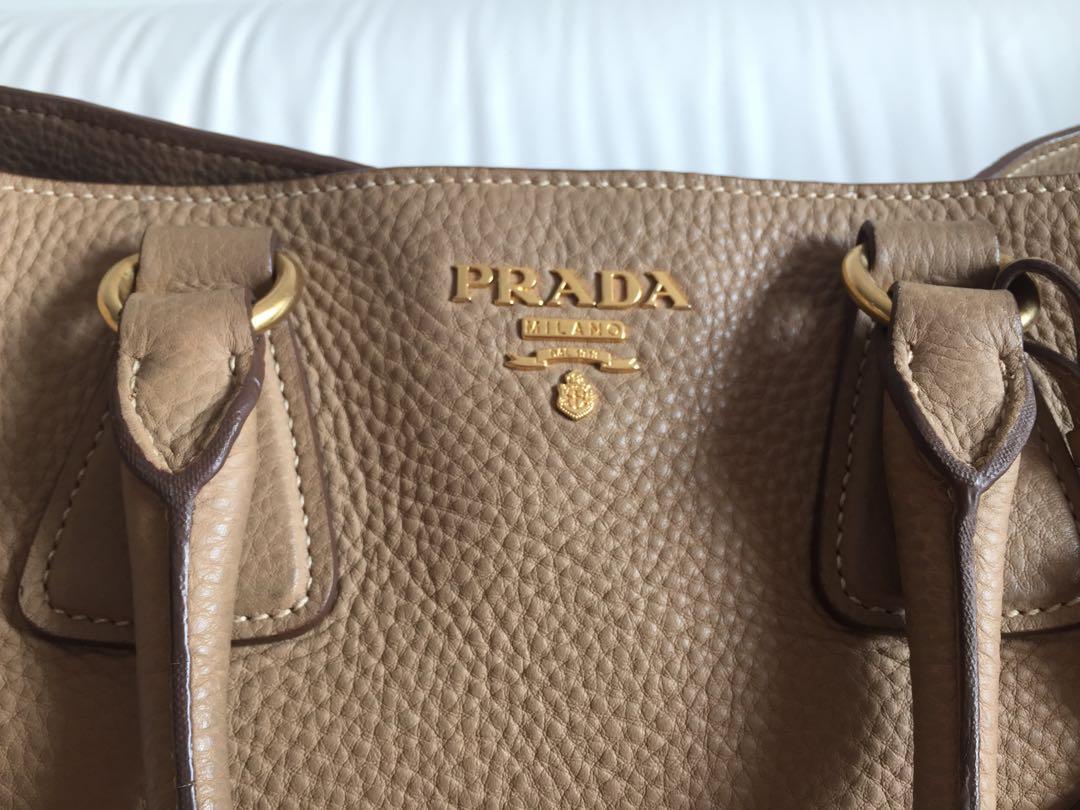 49d70850456b7a ... closeout authentic prada bn2423 in taupe womens fashion bags wallets on  carousell 082c1 e9dee