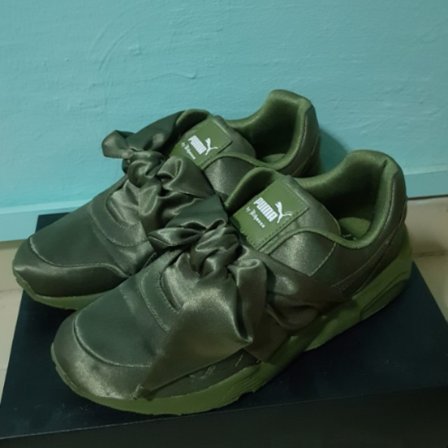 on sale 81bb1 c7ee7 AUTHENTIC Puma Fenty By Rihanna Bow Sneaker – Olive Green #Easter20