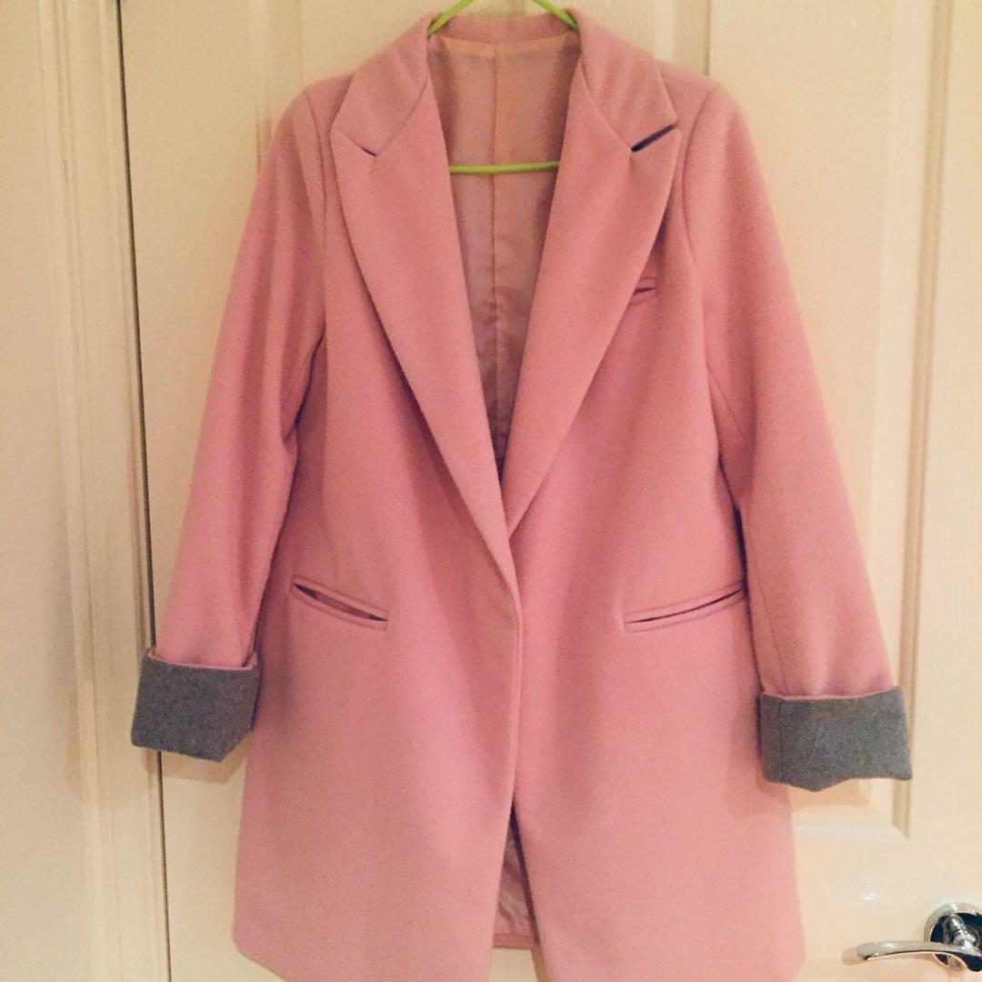Baby Pink Korean Inspired Coat