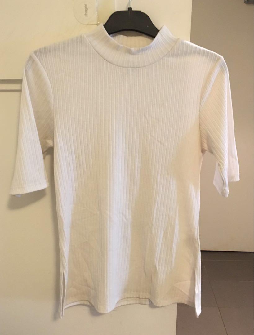 Bardot Top - White, M (10)