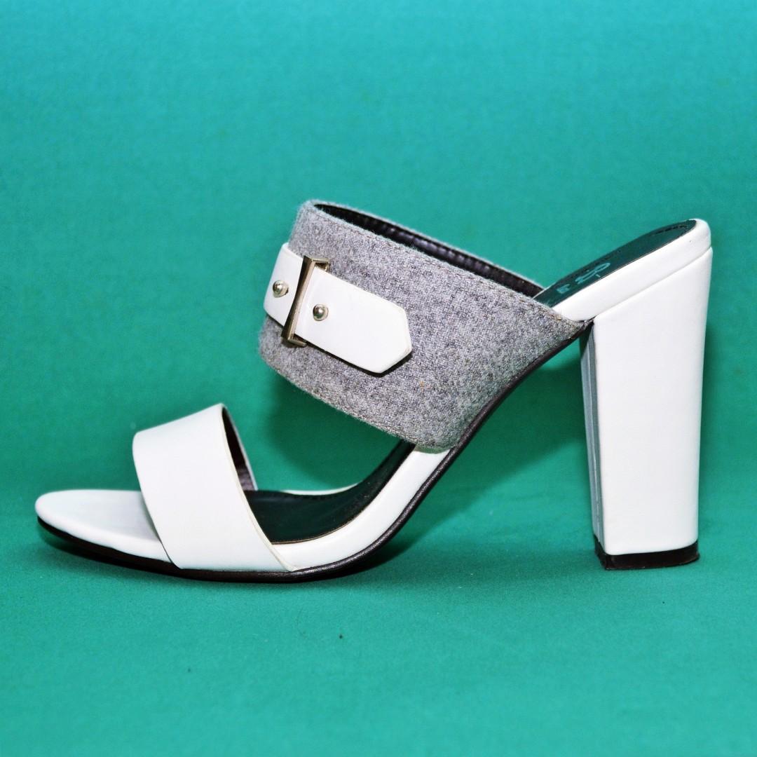 a0a9a9b0cd2 BATA white block heel sandals