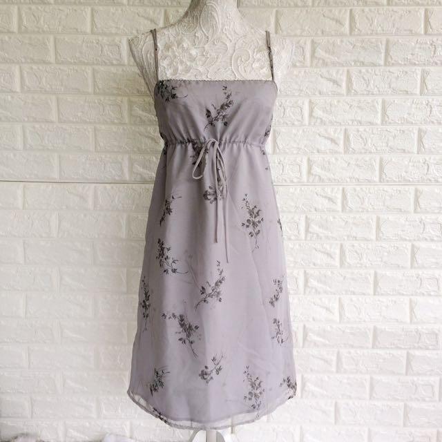 Bayo Gray Floral Dress