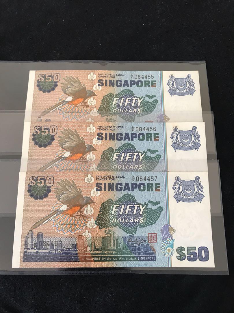 Bird Series $50 With Prefix A6 3 Run