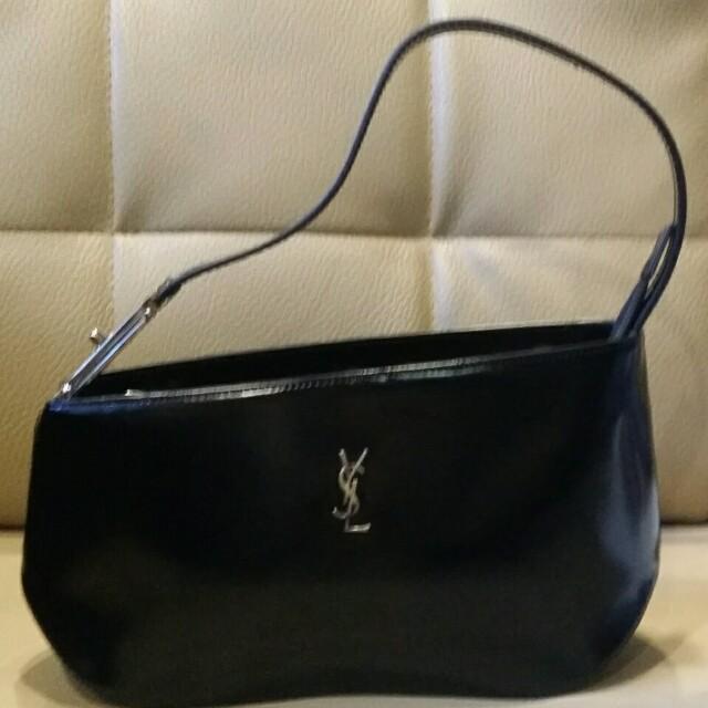 b90e4ff1f3b YSL Black Hand Bag, Women's Fashion, Bags & Wallets on Carousell