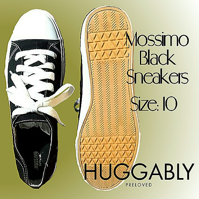 11a0c335 Black Mossimo Sneakers, Men's Fashion, Footwear, Sneakers on Carousell