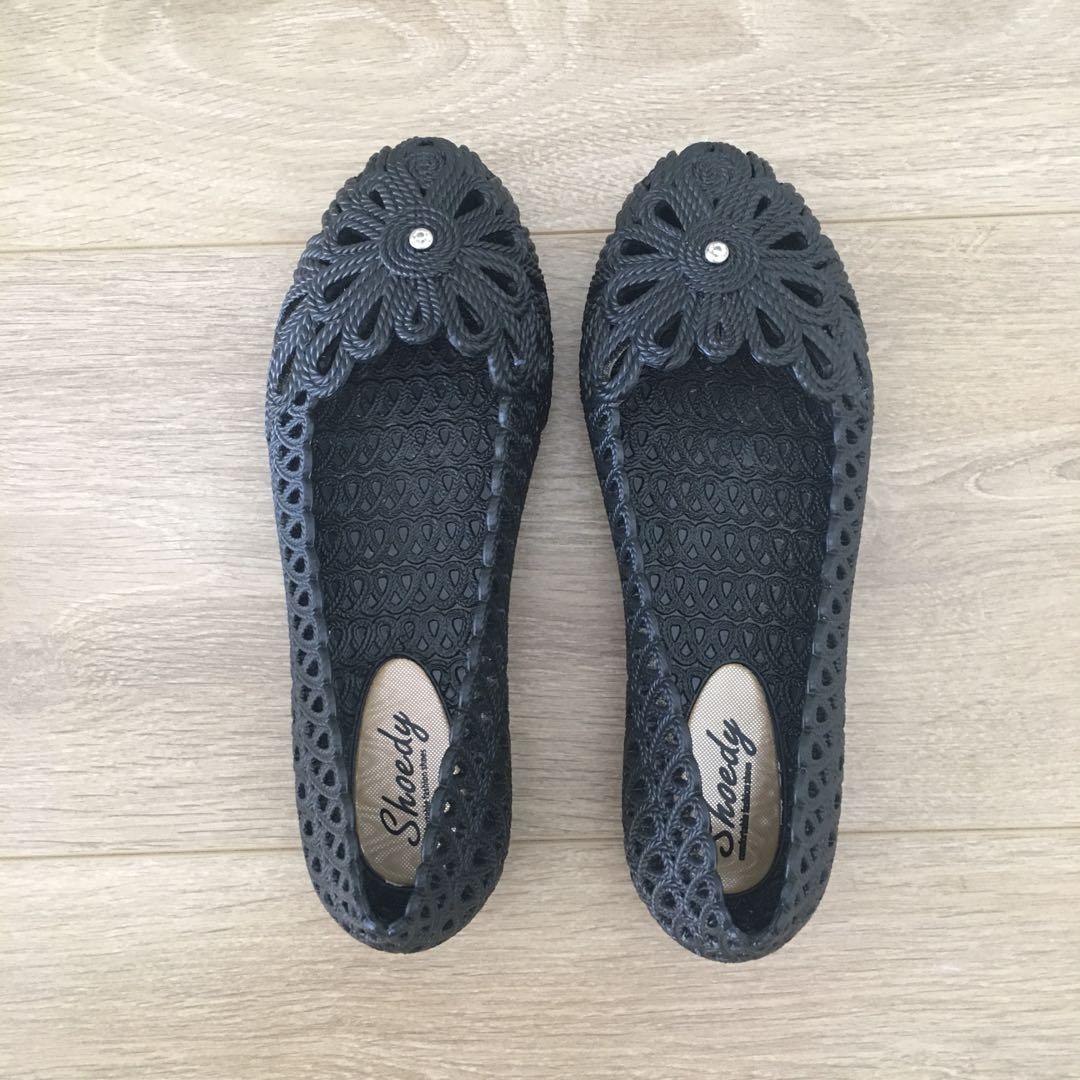 Black Stud Elastic Shoe