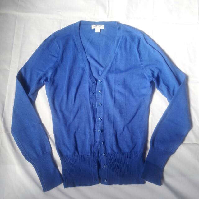 FREE SF! Branded Blue Cardigan