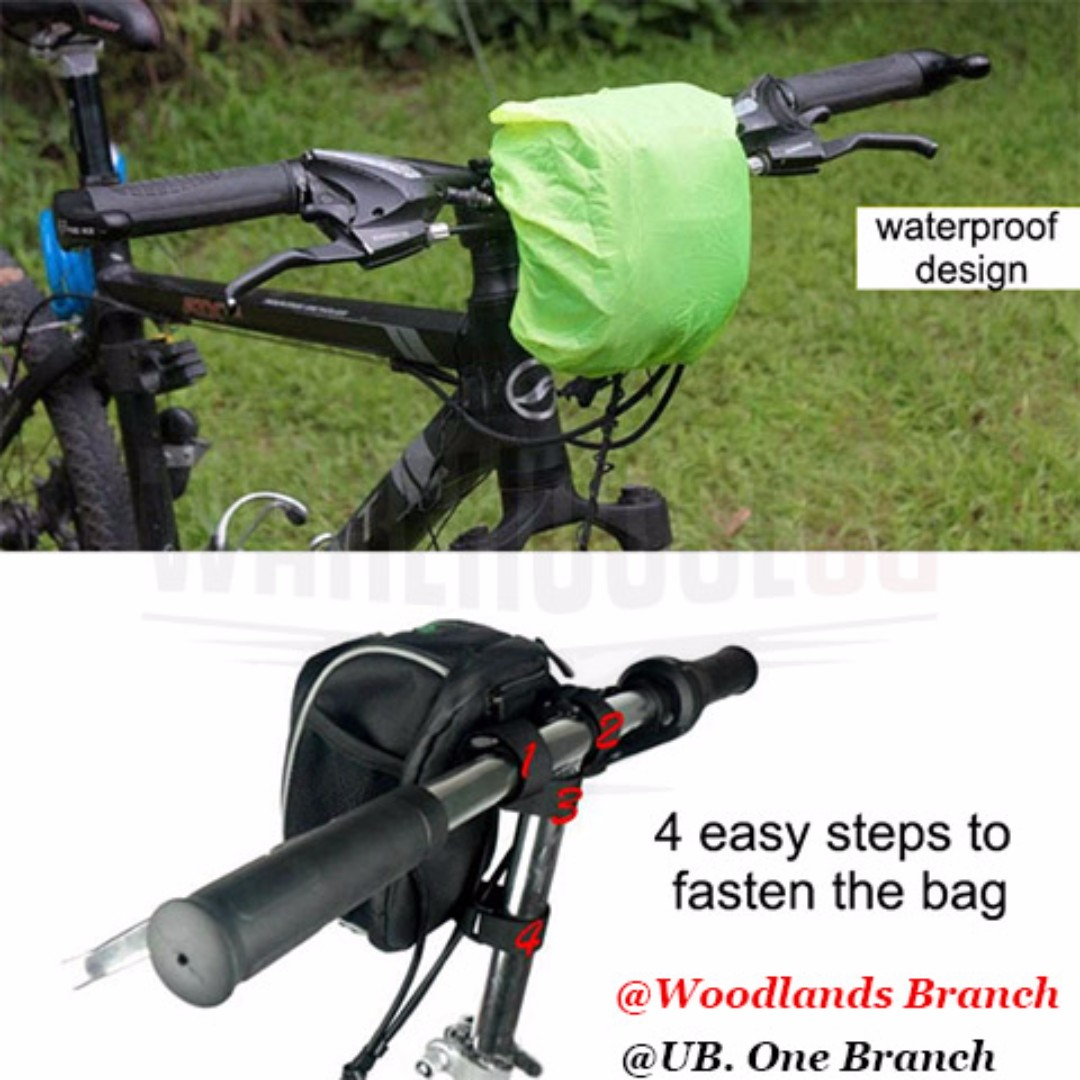 Bsoul Handlebar Pouch Bicycle Bag Electric Scooter Accessories Rockbros 010 4bk Mtb 6 Inch Waterproof Bicycles Pmds On Carousell