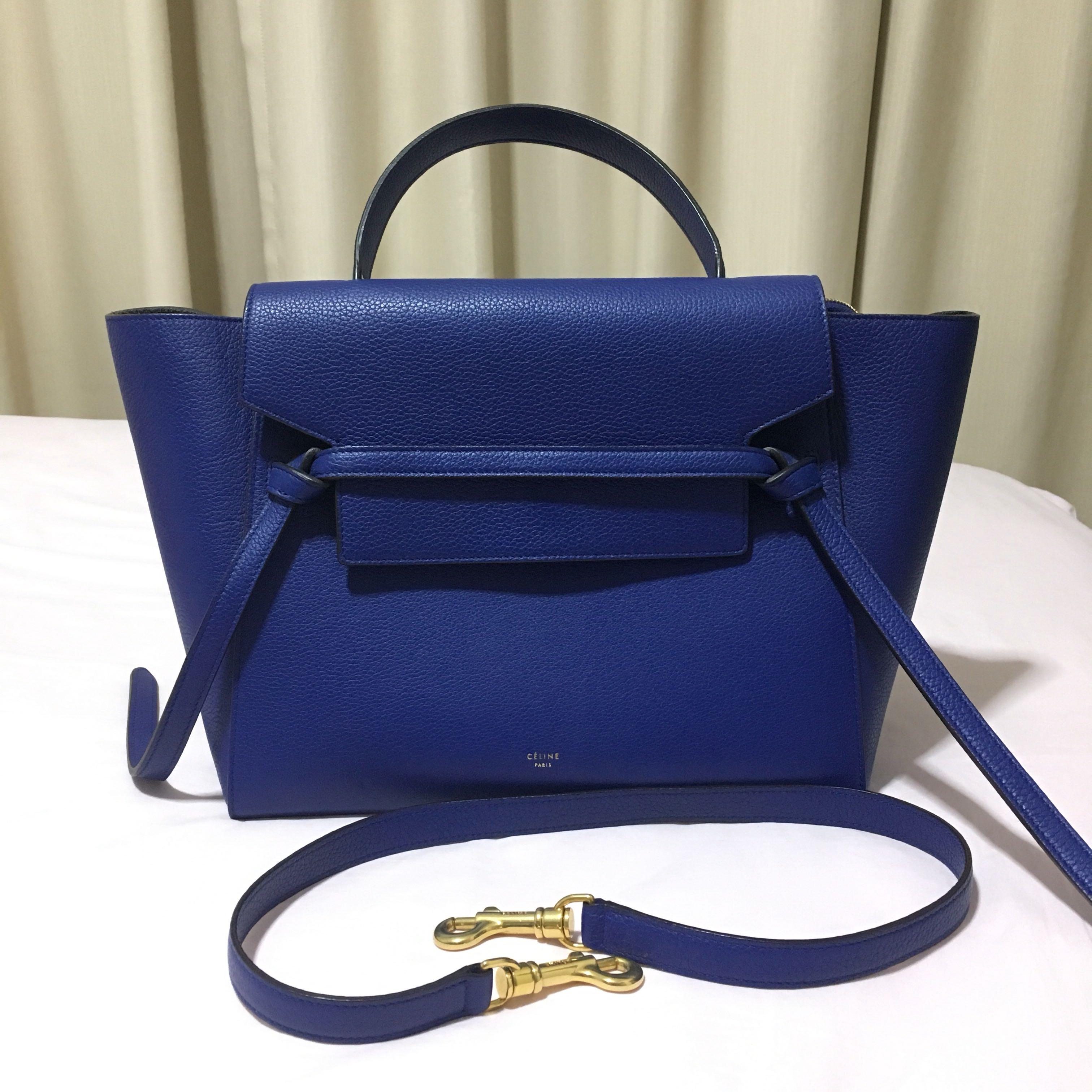 Celine mini belt bag in indigo womens fashion bags wallets on carousell jpg  3024x3024 Celine mini 2ebfa6d2c9