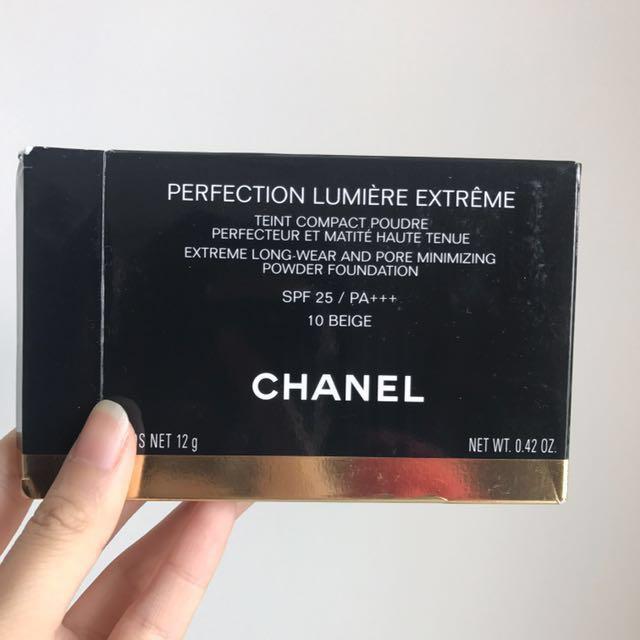 Chanel extreme long wear and pore minimizing powder foundation