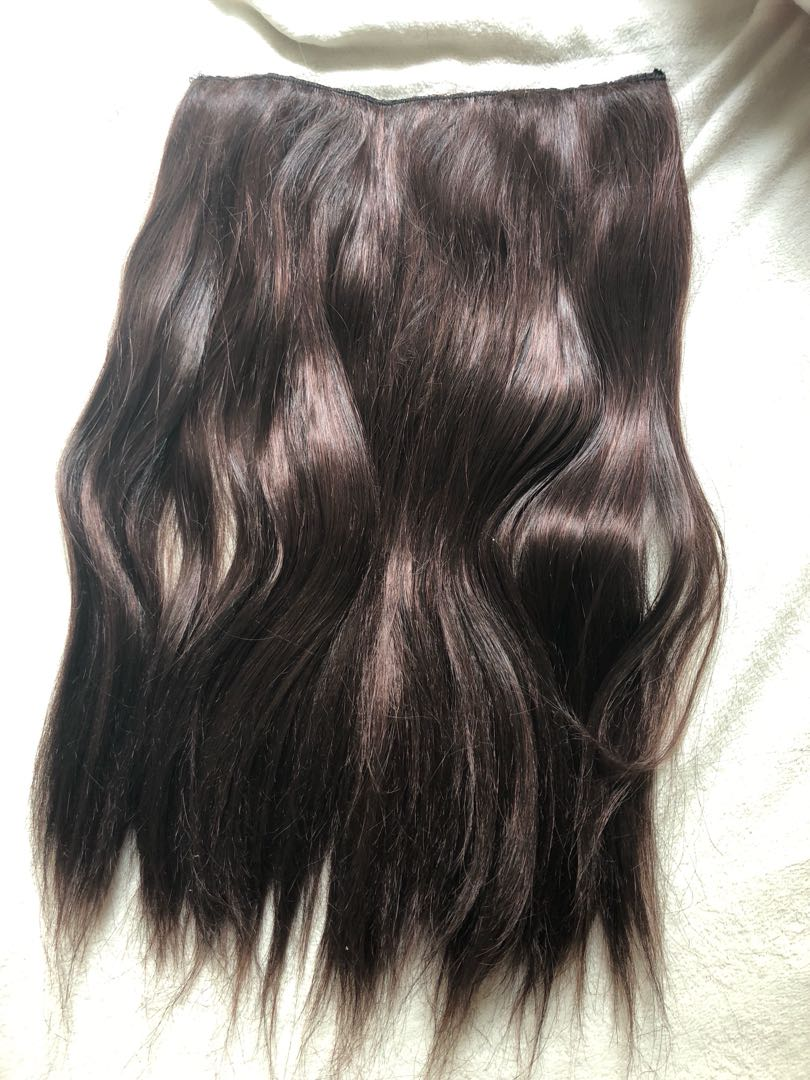 Cherry Red Brown Straight Hair Extensions Health Beauty Hair