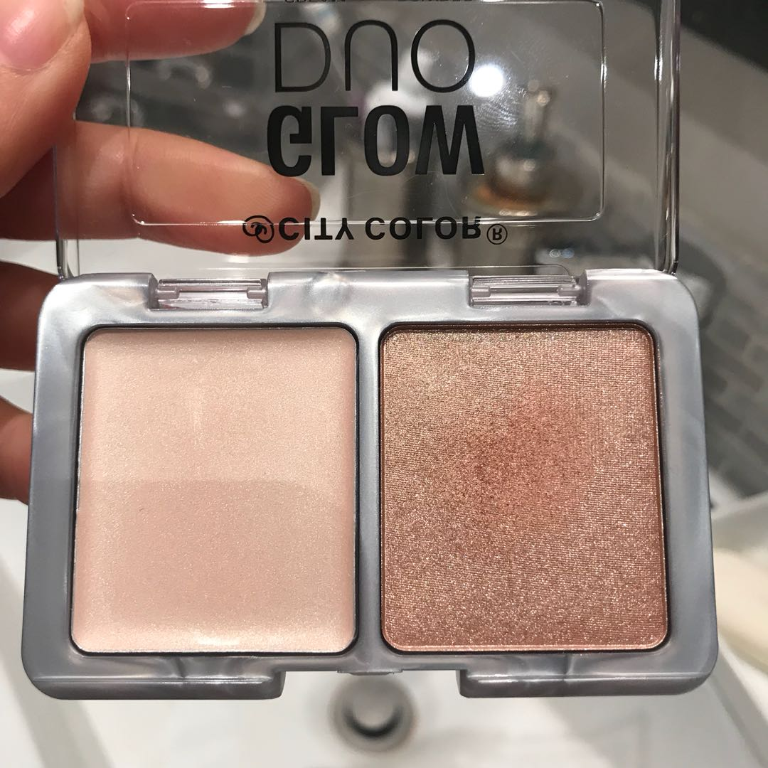 City colour cream & powder highlight duo