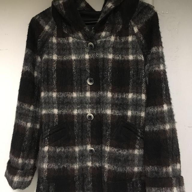Coat Black And Brown Size 10