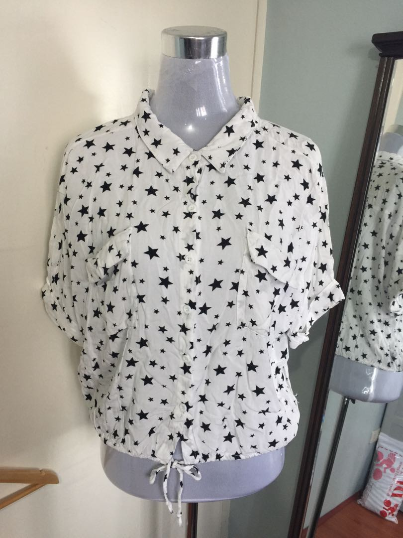 Cotton blouse fits up to large