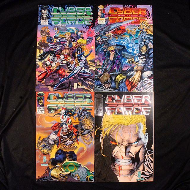 CYBERFORCE #1, 2, 3, 4 (1992 Image) Marc Silvestri [Lot of 4]