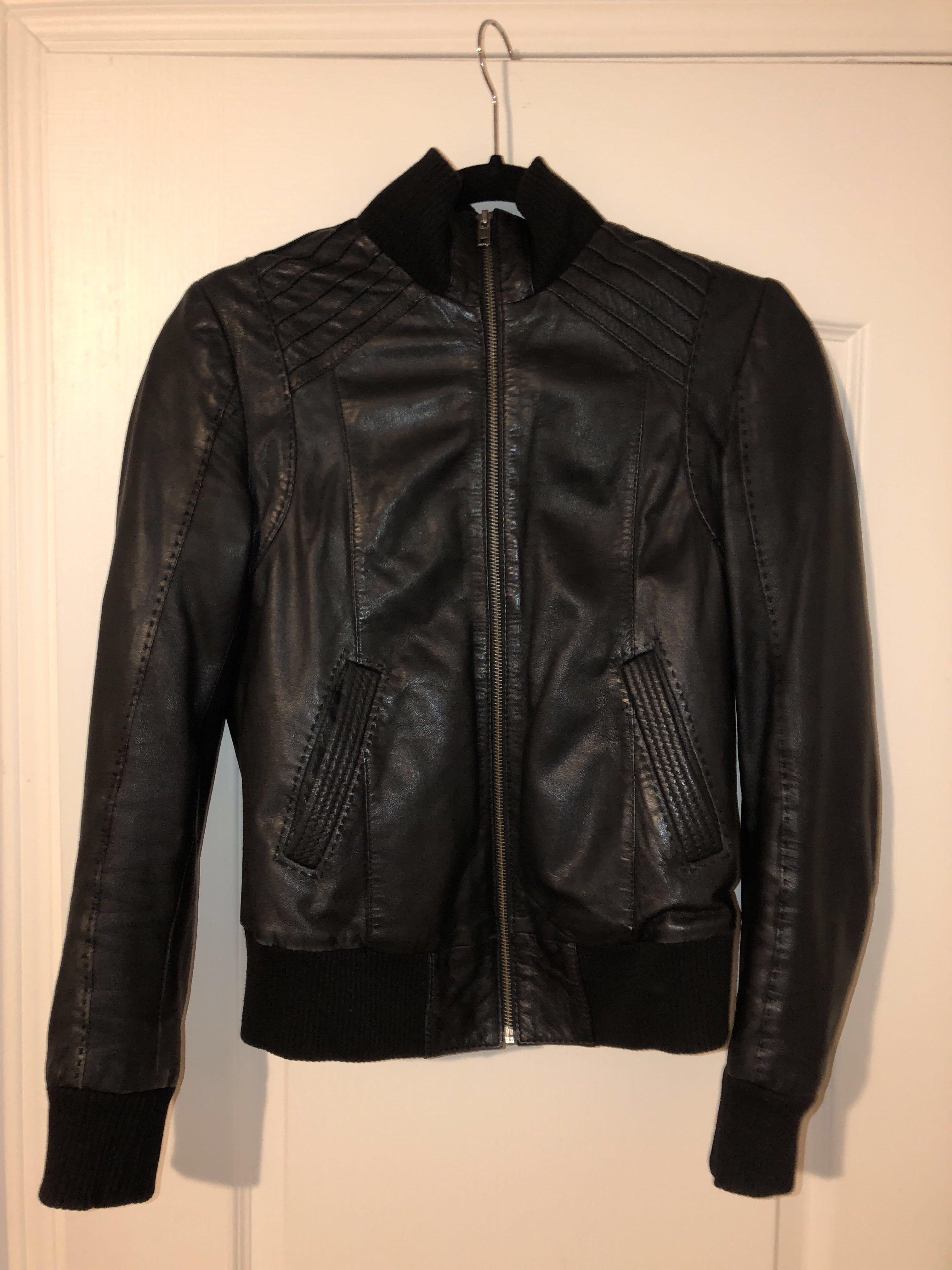 Daniel leather jacket size XS & Free unopened Essie nail polish