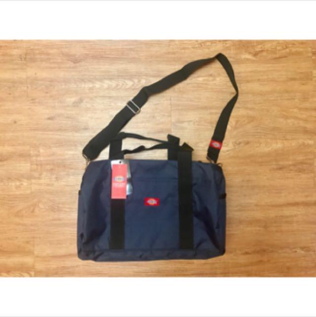 Dickies 斜背包 側背包 提袋 tote bag navy 深藍色 有內袋 旅行包 旅行袋