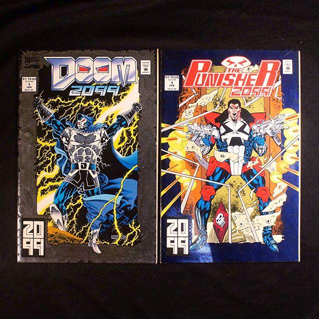 Doom 2099 #1 + Punisher 2099 #1 (1993 Marvel) [Lot of 2]