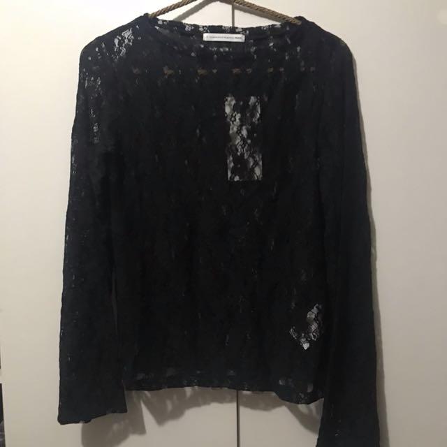 Ehyphen 日系品牌 蕾絲提花上衣
