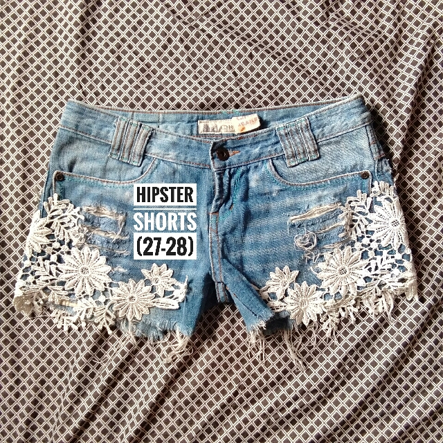Embroidered Hipster Shorts