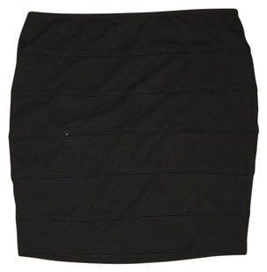 Forever 21 black bandage mini skirt