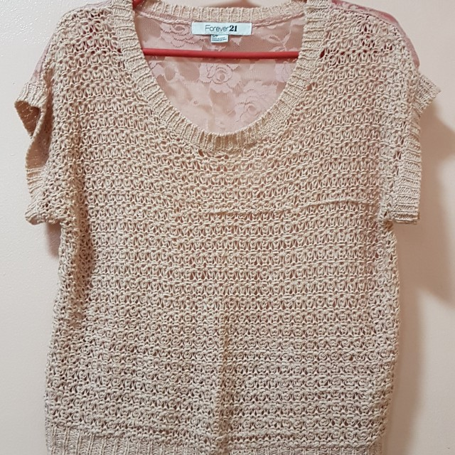 Forever 21 lace/knit top