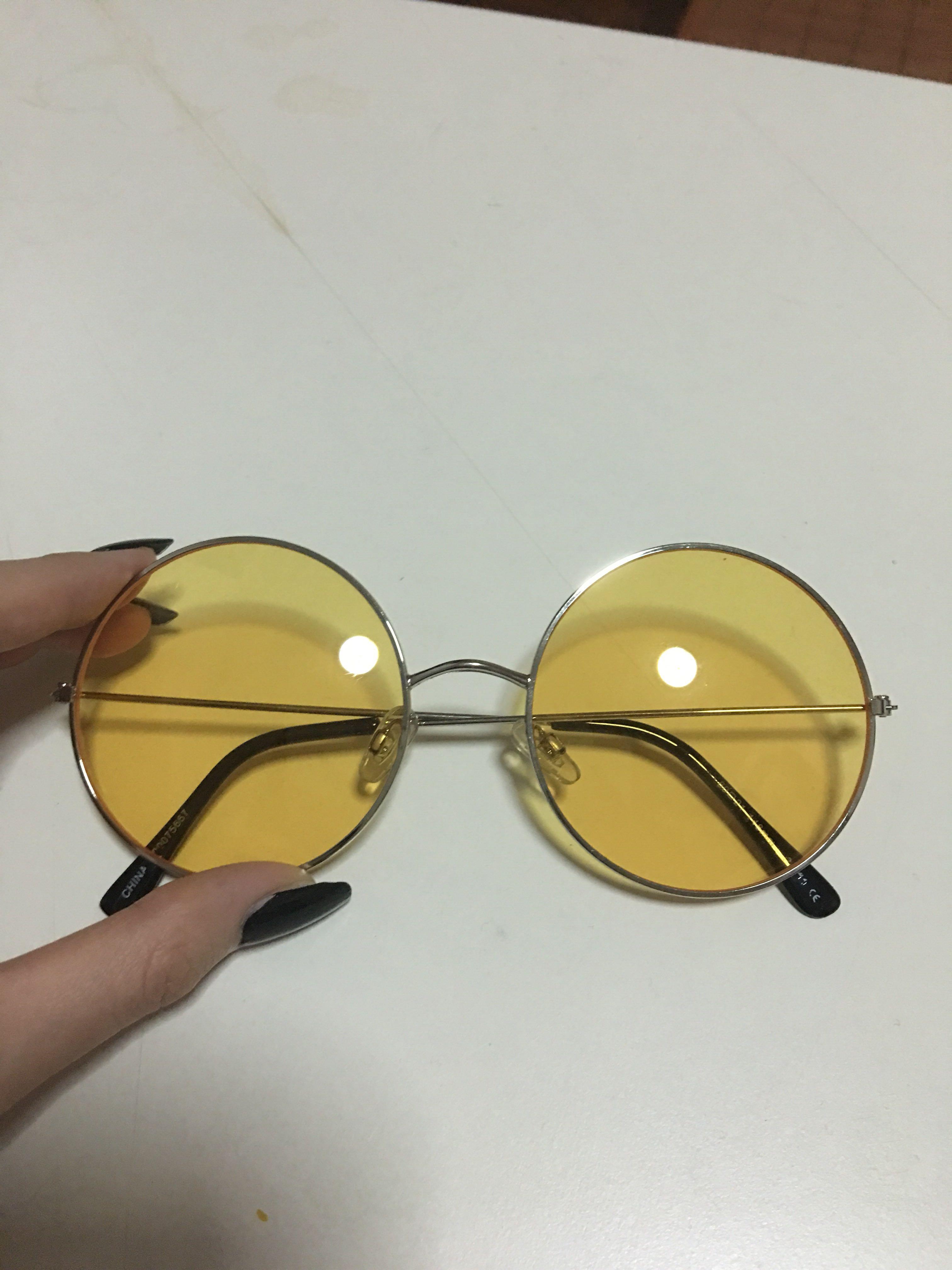 3c93d4e65bd Forever 21 Yellow Tint Sunglasses