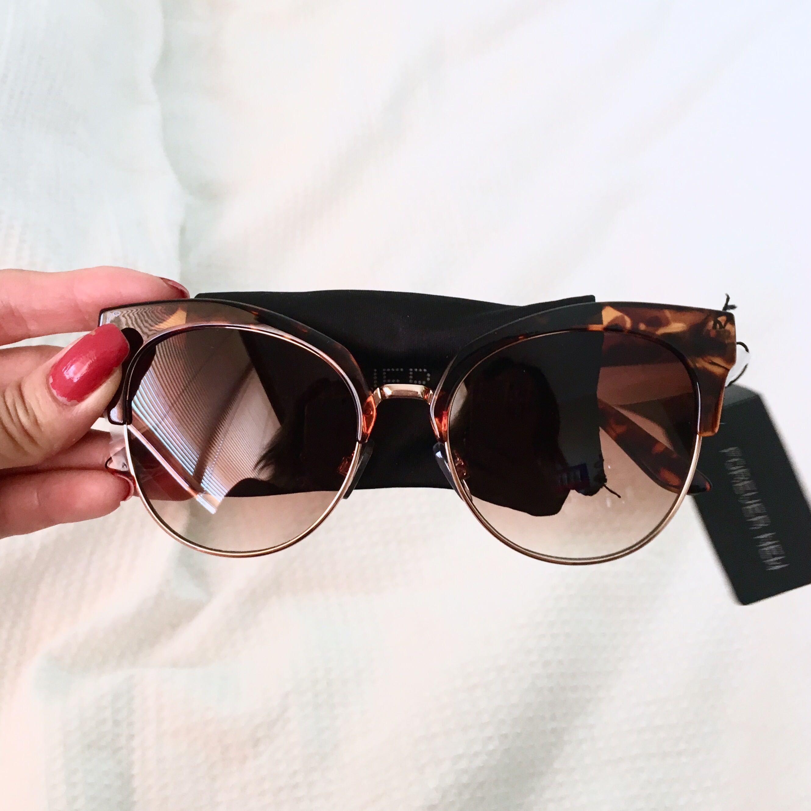 Forever New Stylish Leopard Frame Brown Sunglasses BNWT
