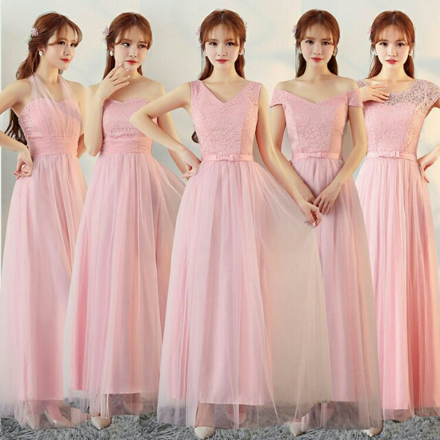 *FREE DELIVERY to WM only / Pre order 15-18 days, offer* Ladies bridal/bridesmaids long wear/dress each as shown design/color purple, blue, pink, grey. Free delivery is applied for this item.