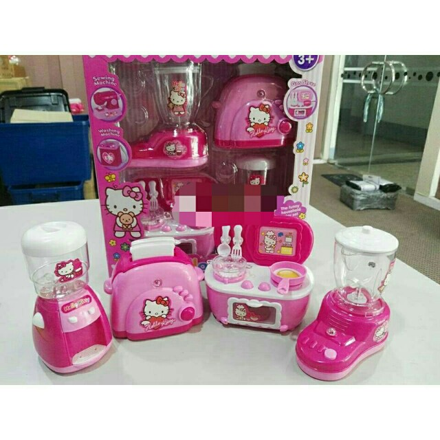 *FREE DELIVERY to WM only / Ready stock* Kids 4pcs set kitchen playset as shown design/color. Free delivery is applied for this item.