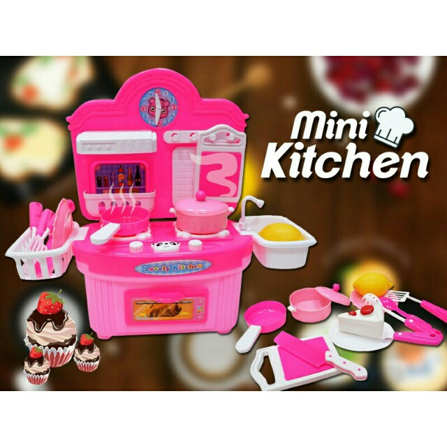 *FREE DELIVERY to WM only / Ready stock* Kids kitchen playset each as shown design/color. Free delivery is applied for this item.