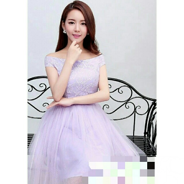 *FREE DELIVERY to WM only / Ready stock* Ladies bridal/bridesmaids wear/dress S / M each as shown design/color purple. Free delivery is applied for this item.