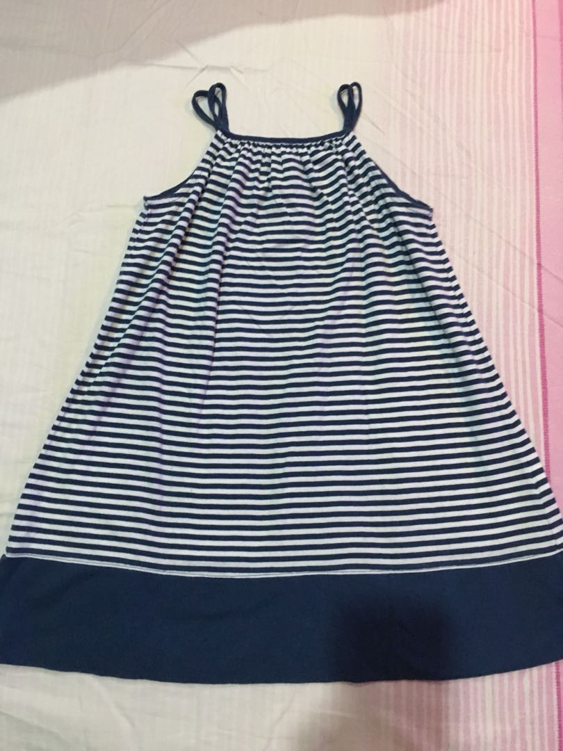 Gap Dress - Striped - Navy Blue