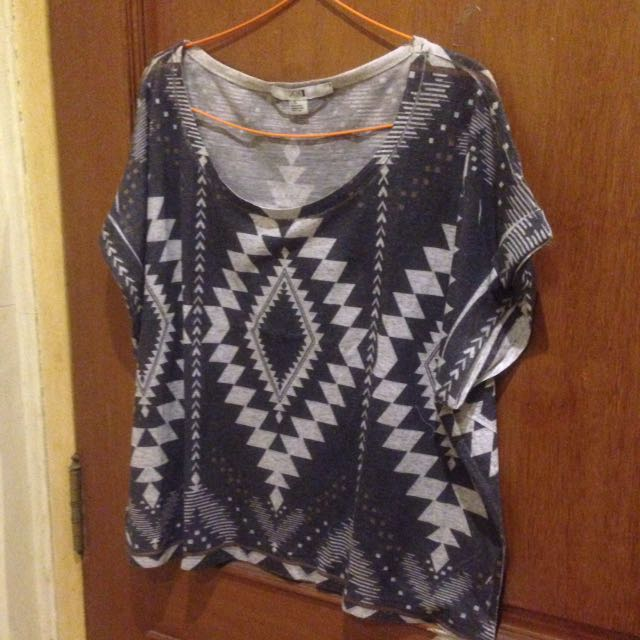 Gray Tribal Top Forever 21