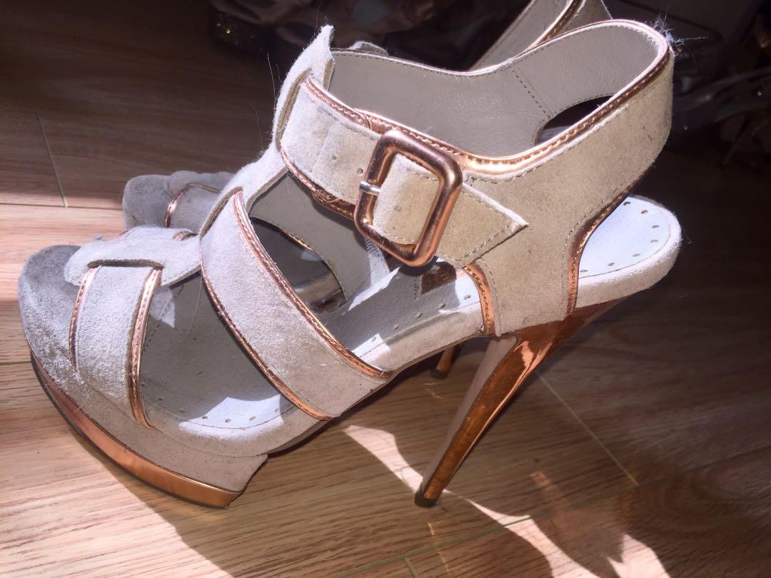 Grey/Rose Gold topshop heels