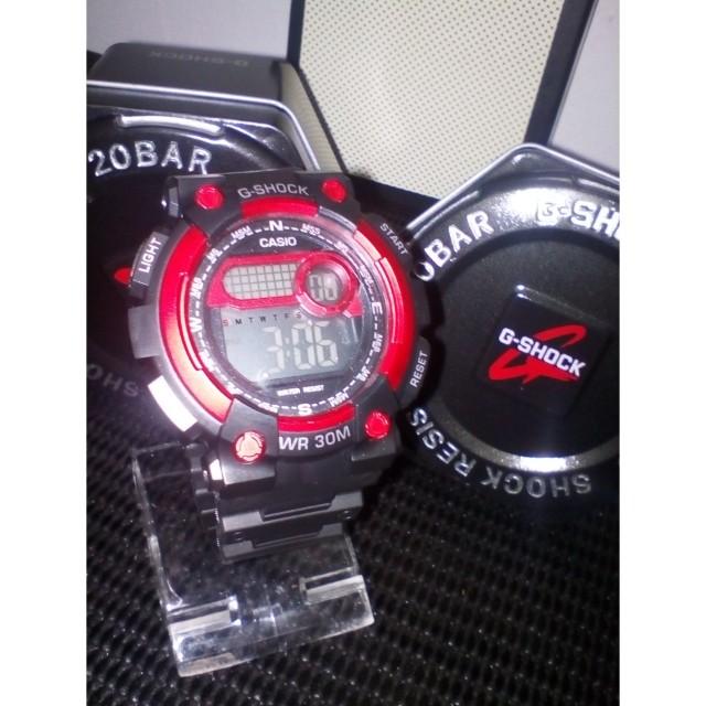 G Shock Black Red Gred A Free Box Bajet20