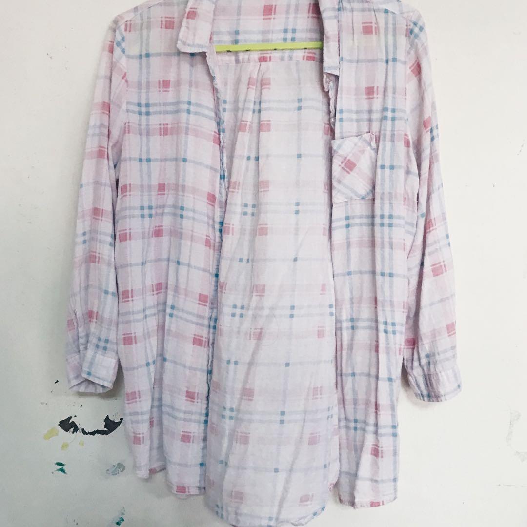 Hang Ten Pastel Checkered Shirt